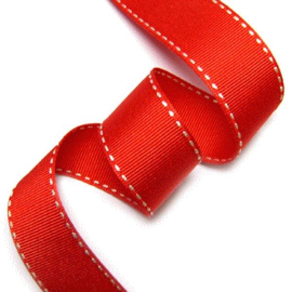画像1: ステッチリボン 赤 10mm,15mm,25mm (1)